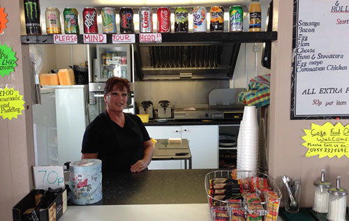 Transport Cafe near Portsmouth with meals cooked to order